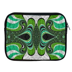 Fractal Art Green Pattern Design Apple Ipad 2/3/4 Zipper Cases