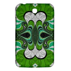 Fractal Art Green Pattern Design Samsung Galaxy Tab 3 (7 ) P3200 Hardshell Case