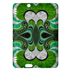 Fractal Art Green Pattern Design Kindle Fire HDX Hardshell Case