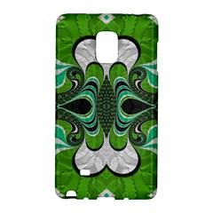 Fractal Art Green Pattern Design Galaxy Note Edge