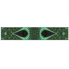 Fractal Art Green Pattern Design Flano Scarf (large)