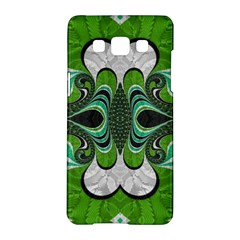Fractal Art Green Pattern Design Samsung Galaxy A5 Hardshell Case