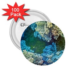Fractal Formula Abstract Backdrop 2.25  Buttons (100 pack)