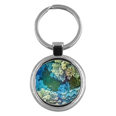 Fractal Formula Abstract Backdrop Key Chains (Round)