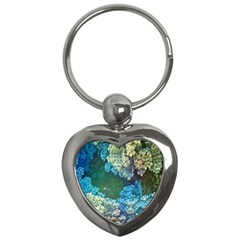 Fractal Formula Abstract Backdrop Key Chains (Heart)