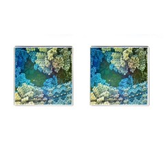 Fractal Formula Abstract Backdrop Cufflinks (square)