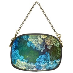 Fractal Formula Abstract Backdrop Chain Purses (two Sides)