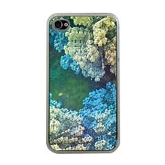 Fractal Formula Abstract Backdrop Apple iPhone 4 Case (Clear)