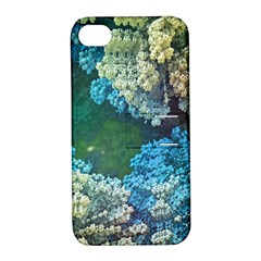 Fractal Formula Abstract Backdrop Apple iPhone 4/4S Hardshell Case with Stand