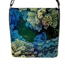 Fractal Formula Abstract Backdrop Flap Messenger Bag (l)