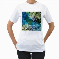 Fractal Formula Abstract Backdrop Women s T-Shirt (White)
