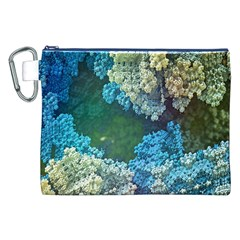 Fractal Formula Abstract Backdrop Canvas Cosmetic Bag (xxl)