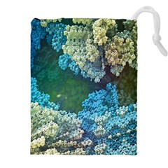 Fractal Formula Abstract Backdrop Drawstring Pouches (XXL)