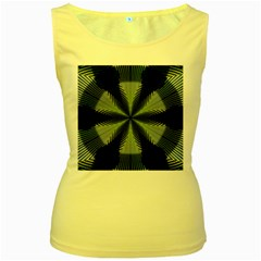 Lines Abstract Background Women s Yellow Tank Top