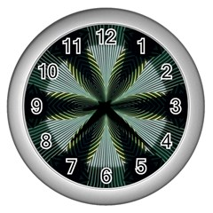 Lines Abstract Background Wall Clocks (Silver)