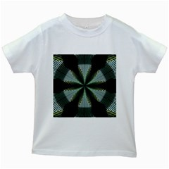 Lines Abstract Background Kids White T-Shirts