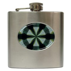 Lines Abstract Background Hip Flask (6 Oz)