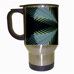 Lines Abstract Background Travel Mugs (White)