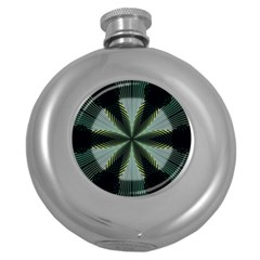 Lines Abstract Background Round Hip Flask (5 oz)