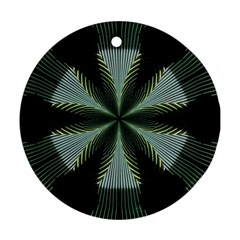Lines Abstract Background Round Ornament (two Sides)