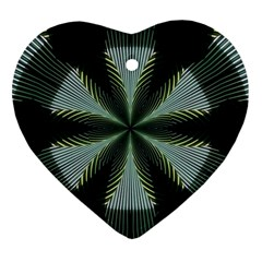 Lines Abstract Background Heart Ornament (Two Sides)