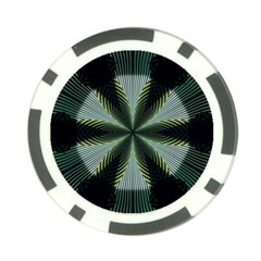 Lines Abstract Background Poker Chip Card Guard