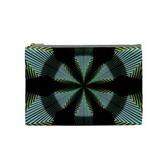 Lines Abstract Background Cosmetic Bag (Medium)