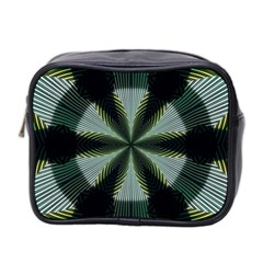 Lines Abstract Background Mini Toiletries Bag 2 Side