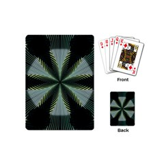 Lines Abstract Background Playing Cards (mini)