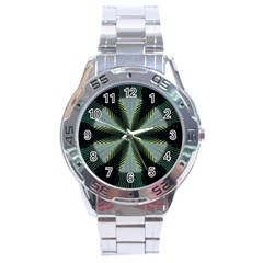 Lines Abstract Background Stainless Steel Analogue Watch