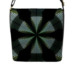 Lines Abstract Background Flap Messenger Bag (L)