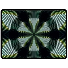 Lines Abstract Background Double Sided Fleece Blanket (Large)