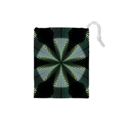 Lines Abstract Background Drawstring Pouches (small)