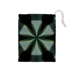 Lines Abstract Background Drawstring Pouches (Medium)