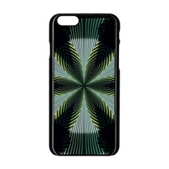 Lines Abstract Background Apple iPhone 6/6S Black Enamel Case