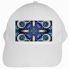 Fractal Cathedral Pattern Mosaic White Cap