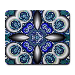 Fractal Cathedral Pattern Mosaic Large Mousepads