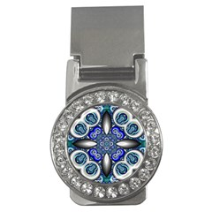 Fractal Cathedral Pattern Mosaic Money Clips (CZ)