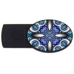 Fractal Cathedral Pattern Mosaic USB Flash Drive Oval (1 GB)