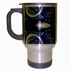 Fractal Cathedral Pattern Mosaic Travel Mug (silver Gray)