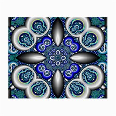Fractal Cathedral Pattern Mosaic Small Glasses Cloth