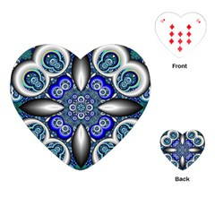 Fractal Cathedral Pattern Mosaic Playing Cards (heart)