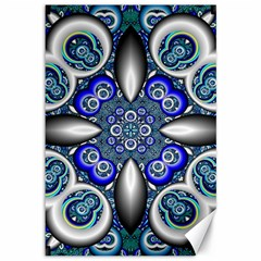 Fractal Cathedral Pattern Mosaic Canvas 12  x 18