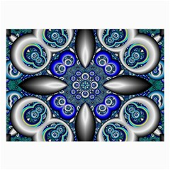 Fractal Cathedral Pattern Mosaic Large Glasses Cloth