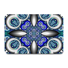 Fractal Cathedral Pattern Mosaic Plate Mats