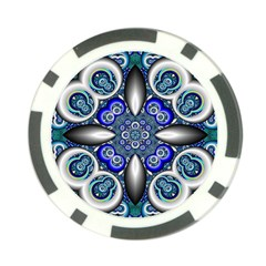 Fractal Cathedral Pattern Mosaic Poker Chip Card Guard