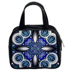 Fractal Cathedral Pattern Mosaic Classic Handbags (2 Sides)