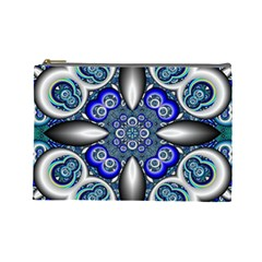 Fractal Cathedral Pattern Mosaic Cosmetic Bag (large)