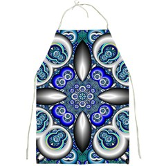 Fractal Cathedral Pattern Mosaic Full Print Aprons