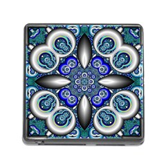Fractal Cathedral Pattern Mosaic Memory Card Reader (square)